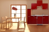 Küchenblock 180 KB180BR Buche Front rot