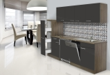 respekta Küchenblock KB225EYG Eiche York Front grau
