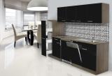 respekta Küchenblock KB225EYS Eiche York Front schwarz