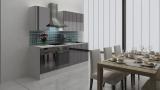 respekta Küchenblock RP220WSC Hochglanz schwarz ohne Kühlschrank