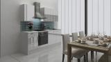 respekta Küchenblock RP220WWC Hochglanz weiss ohne Kühlschrank