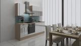 respekta Küchenblock RP220AWC Hochglanz weiss ohne Kühlschrank