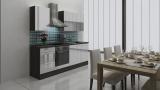 respekta Küchenblock RP220EWC Hochglanz weiss ohne Kühlschrank