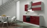 respekta Küchenblock RP210WBOC Hochglanz bordeaux ohne Kühlschrank