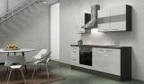 respekta Küchenblock RP210EWC Hochglanz weiss ohne Kühlschrank