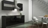 respekta Küchenblock RP210ESC Hochglanz schwarz ohne Kühlschrank