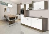 respekta Küchenzeile KB270EYW Eiche York Nachbildung Front weiss Seidenglanz 270 cm