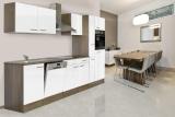 respekta Küchenzeile KB310EYW Eiche York Nachbildung - Front weiß Seidenglanz