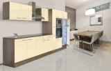 respekta Küchenzeile KB360EYVMIGKE Eiche York Nachbildung - Front Dickkante 1,2 mm vanille Seidenglanz