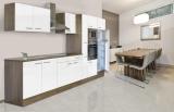 respekta Küchenzeile KB360EYWMIGKE Eiche York Nachbildung - Front Dickkante 1,2 mm weiß Seidenglanz