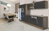 respekta Küchenzeile KB370EYGMIGKE Eiche York Nachbildung - Front Dickkante 1,2 mm grau
