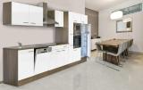 respekta Küchenzeile KB370EYWMIGKE Eiche York Nachbildung - Front Dickkante 1,2 mm weiß