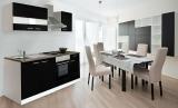 respekta Küchenzeile KB210WS schwarz ohne Kühlschrank