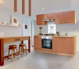 respekta Küchenzeile KB210BB Buche ohne Kühlschrank