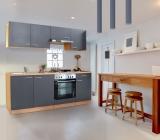 respekta Küchenzeile KB210BGE grau ohne Kühlschrank