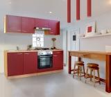 respekta Küchenzeile KB210BRE rot ohne Kühlschrank