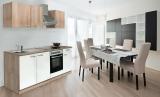 respekta Küchenzeile KB210ESWOES weiss  ohne Kühlschrank