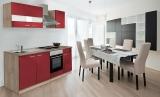 respekta Küchenzeile KB210ESR rot  ohne Kühlschrank