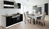 respekta Küchenzeile KB220WS schwarz ohne Kühlschrank