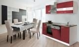 respekta Küchenzeile KB220WR rot ohne Kühlschrank