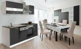 respekta Küchenzeile KB220WG grau ohne Kühlschrank
