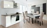 respekta Küchenzeile KB220WW weiss ohne Kühlschrank
