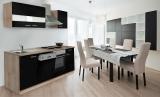respekta Küchenzeile KB220ESS schwarz ohne Kühlschrank