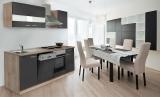 respekta Küchenzeile KB220ESG grau ohne Kühlschrank