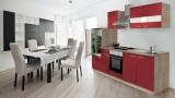 Küchenblock 270 rot Eiche KB270ESR