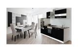 Küchenblock Küchenzeile 270 schwarz KB270WS