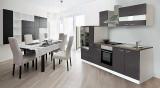 Küchenblock Küchenzeile Grau KB300WG 3 m breit