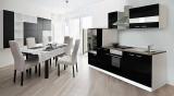 Küchenblock Küchenzeile schwarz KB300WS 3 m breit