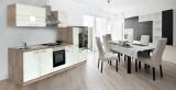 Küchenblock Küchenzeile weiss Eiche KB300ESW 3 m breit