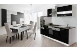 Küchenblock Küchenzeile 280 schwarz KB280WS