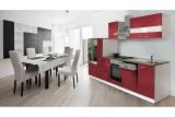 Küchenblock Küchenzeile 310 rot KB310WR