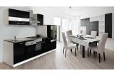 Küchenblock Küchenzeile 310 cm schwarz KB310WS