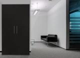 respekta Schrankküche SKWSS schwarz reversibel