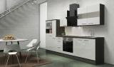 respekta Küchenblock RP300EWCMIS Hochglanz weiss Schräghaube
