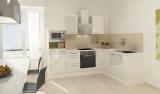 respekta L Küchenblock RP260WWCMIS Hochglanz weiss Schräghaube 260 x 200 cm