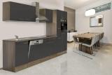 respekta Küchenzeile KB310EYG Eiche York Nachbildung - Front grau Seidenglanz