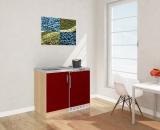 Miniküche MK100ESRS rot mit Kühlschrank