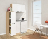 Miniküche MK130ESWOSS weiss mit Kühlschrank