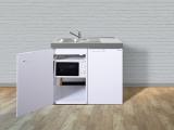 Miniküche MKM 100 Tee-Pantry rechts Becken links mit Mikrowelle