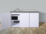 Kleinküche MKM 150 Tee Pantry  rechts Becken links ohne Kochfeld mit Mikrowelle
