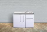 Miniküche MP 120A Tee Pantry links Becken rechts Apothekerauszug