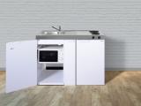 Miniküche MKM 120A E-Pantry  rechts Becken links mit Apothekerauszug