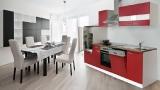 Küchenblock 280 Bordeauxrot LBKB280WR