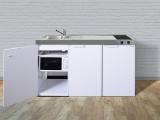 Kleinküche MKM 150 Glaskeramik Kochfeld rechts Becken links mit Mikrowelle
