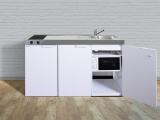 Kleinküche MKM 150 Glaskeramik Kochfeld  links Becken rechts mit Mikrowelle