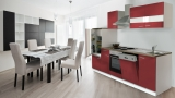 Küchenblock Küchenzeile 280 rot KB280WR